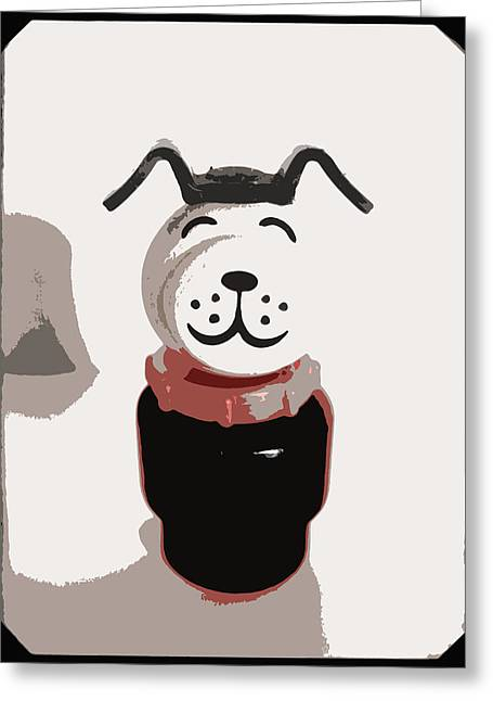 Collar Greeting Cards - Vintage Lucky Dog Greeting Card by The  Vault - Jennifer Rondinelli Reilly