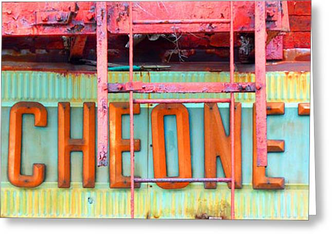 Chipping Paint Greeting Cards - Vintage Luncheonette Americana Sign Greeting Card by AdSpice Studios
