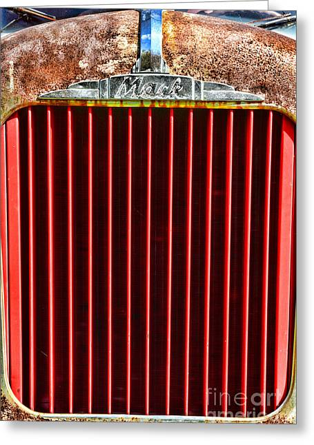 Manufacturing Greeting Cards - Vintage Mack Grill Greeting Card by Paul Ward