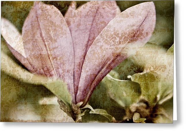 Chic Mixed Media Greeting Cards - Vintage Magnolia Greeting Card by Frank Tschakert