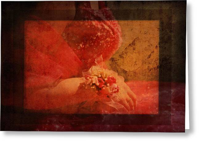 Romance Mixed Media Greeting Cards - Vintage Memories Of First Love Greeting Card by Georgiana Romanovna