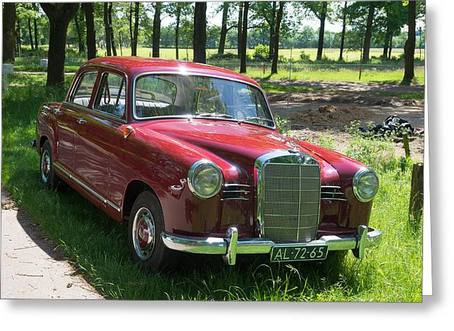 Customizable Greeting Cards - Vintage Mercedes Benz Greeting Card by Hans Engbers