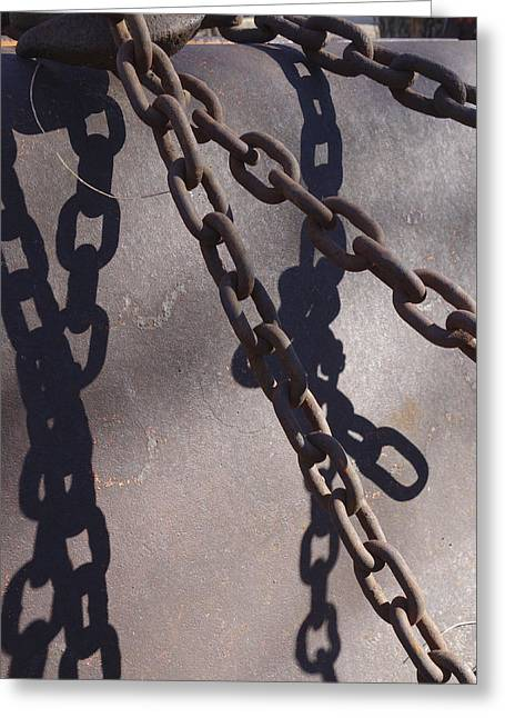 Vintage Metal Chains Greeting Card by Ann Powell