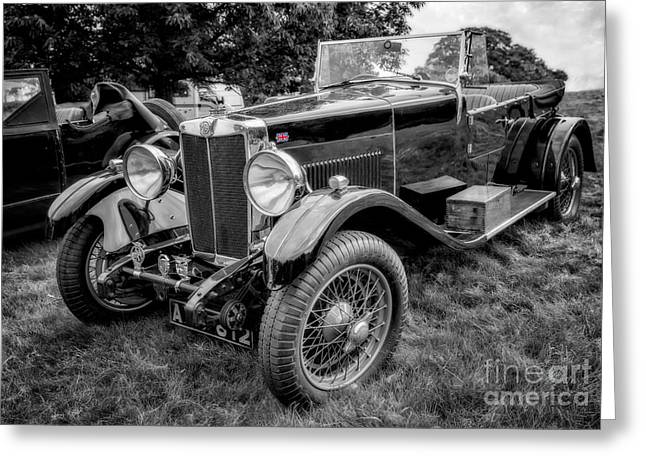 Selective Colouring Greeting Cards - Vintage MG Greeting Card by Adrian Evans