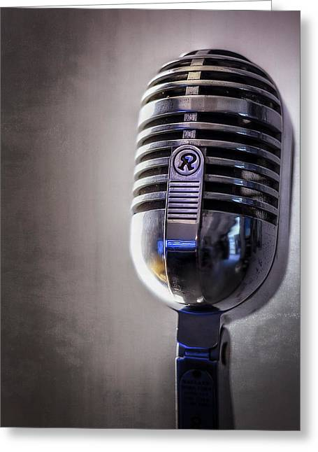 Vintage Microphone 2 Greeting Card by Scott Norris