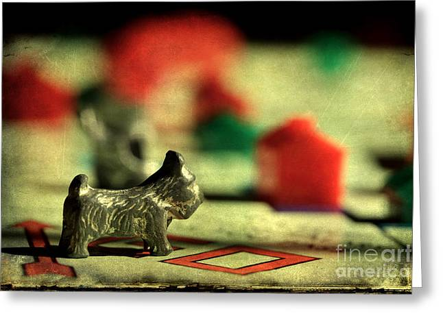 Monopoly Greeting Cards - Vintage Monopoly Greeting Card by Michael Eingle