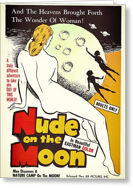 Posters On Mixed Media Greeting Cards - Vintage Movie Poster 1961 Greeting Card by Mountain Dreams