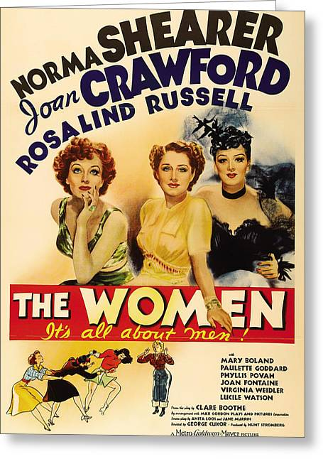 Lithograph Mixed Media Greeting Cards - Vintage Movie Poster - The Women 1939 Greeting Card by Mountain Dreams