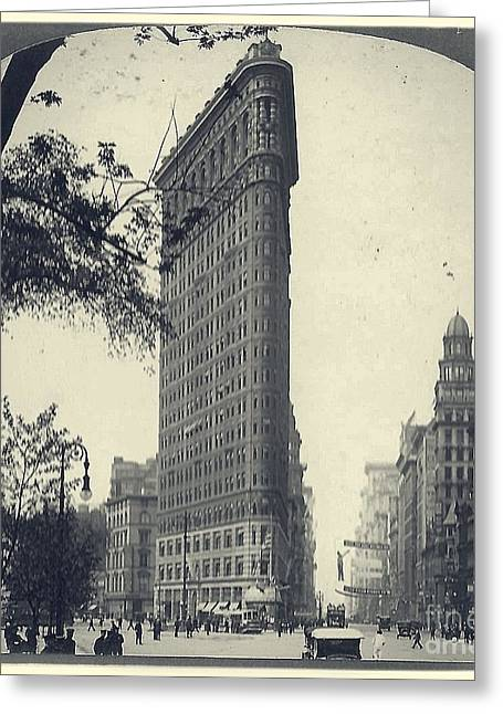 Vintage New York City Flatiron Building Greeting Card by Edward Fielding