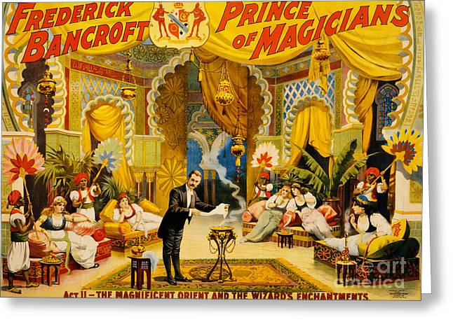 Vintage Nostalgic Poster - 8039 Greeting Card by Wingsdomain Art and Photography