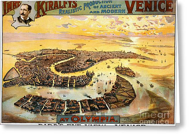 Vintage Nostalgic Poster - 8054 Greeting Card by Wingsdomain Art and Photography
