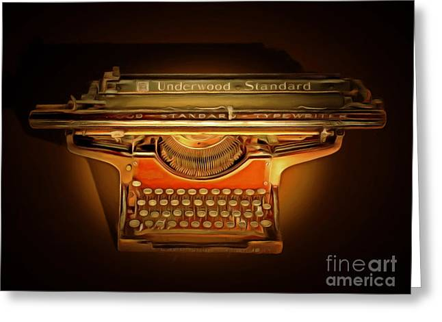 Typewriter Greeting Cards - Vintage Nostalgic Typewriter 20150228 Greeting Card by Wingsdomain Art and Photography