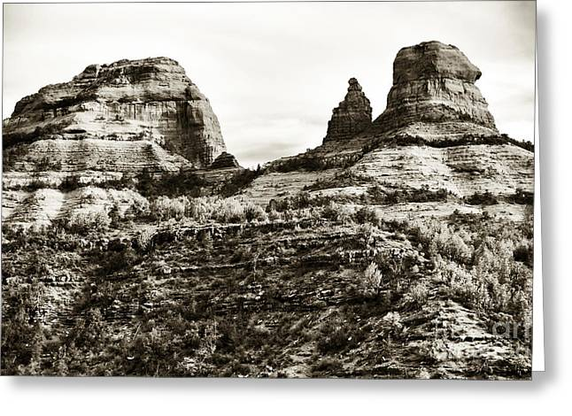 Coconino National Forest Greeting Cards - Vintage Oak Creek Canyon Greeting Card by John Rizzuto