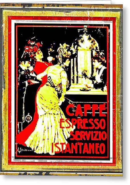 Coffee Drinking Digital Art Greeting Cards - Vintage old coffee advertisement  Greeting Card by Larry Lamb