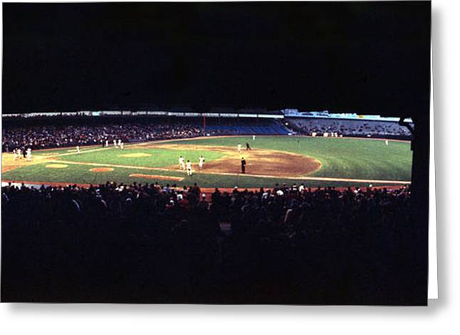 New York Vista Greeting Cards - Vintage Yankee Stadium  Greeting Card by Retro Images Archive