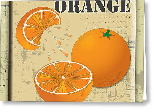 Lori Malibuitalian Greeting Cards - Vintage Orange Label Greeting Card by Lori Malibuitalian