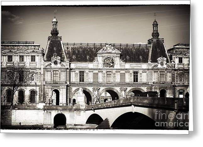 Brown Tones Greeting Cards - Vintage Paris Architecture Greeting Card by John Rizzuto
