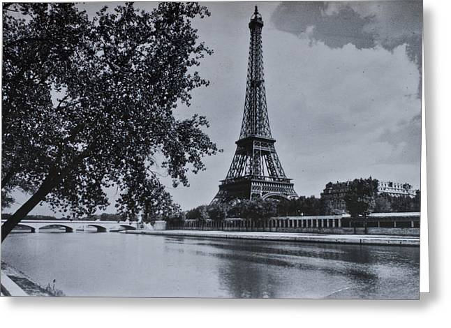Vintage Paris Greeting Card by Nomad Art And  Design