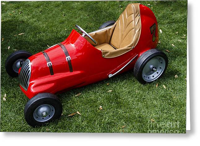 Pedal Car Greeting Cards - Vintage Pedal Car Greeting Card by Dennis Hedberg