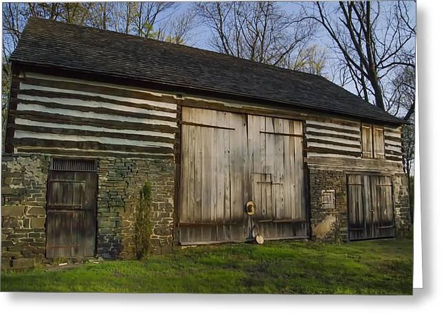 Pennsylvania Barns Greeting Cards - Vintage Pennsylvania Barn Greeting Card by Bill Cannon