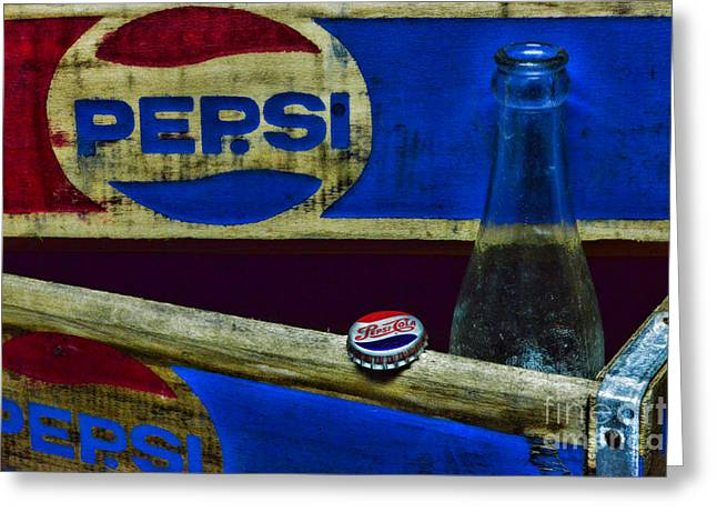 Soft Drink Greeting Cards - Vintage Pepsi-Cola Greeting Card by Paul Ward