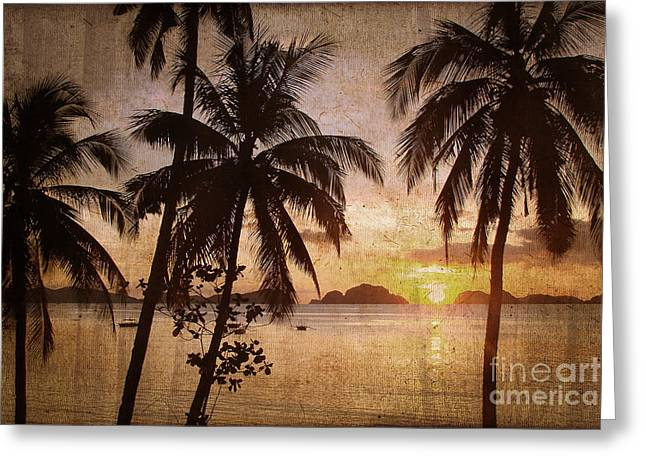 Palawan Greeting Cards - Vintage Philippines Greeting Card by Delphimages Photo Creations