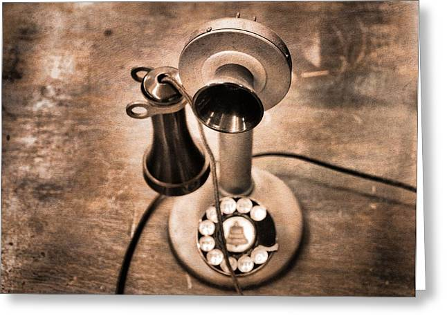 Grandparent Greeting Cards - Vintage Phone Greeting Card by Dan Sproul