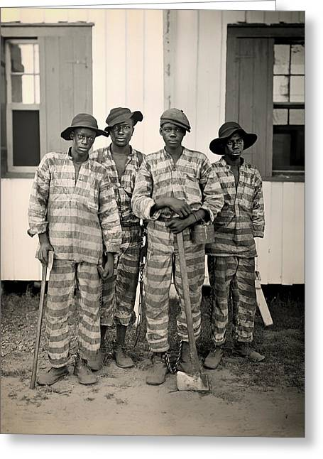 African American History Greeting Cards - Vintage Photo of A Southern Chain Gang Greeting Card by Mountain Dreams