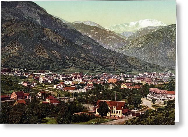 Manitou Springs Greeting Cards - Vintage Photograph of Manitou Springs Colorado - 1902 Greeting Card by Eric Glaser