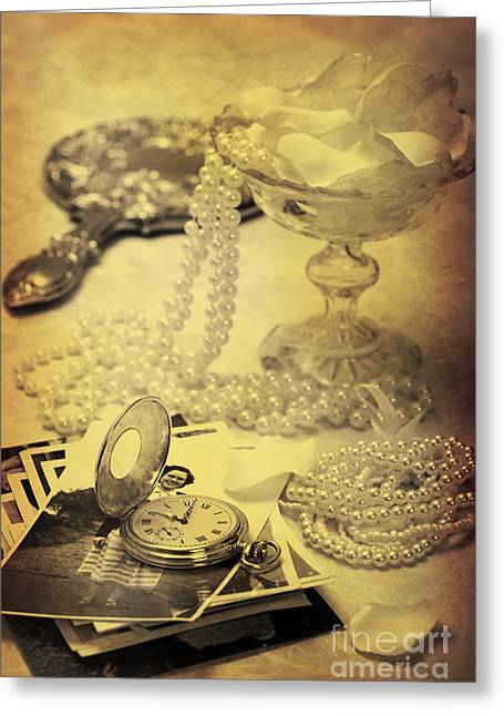 Pocket Watch Greeting Cards - Vintage Photographs Greeting Card by Amanda And Christopher Elwell