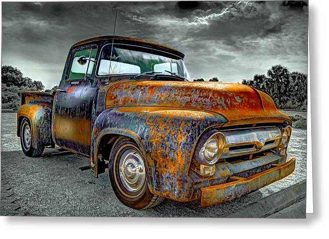 Rusted Cars Greeting Cards - Vintage  Pickup Truck Greeting Card by Mal Bray