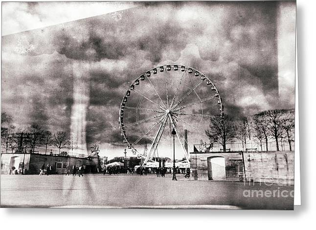 Fashion Art For Print Greeting Cards - Vintage Place de la Concorde Greeting Card by John Rizzuto
