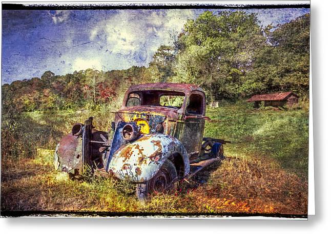 Tennessee Farm Greeting Cards - Vintage Plymouth Greeting Card by Debra and Dave Vanderlaan