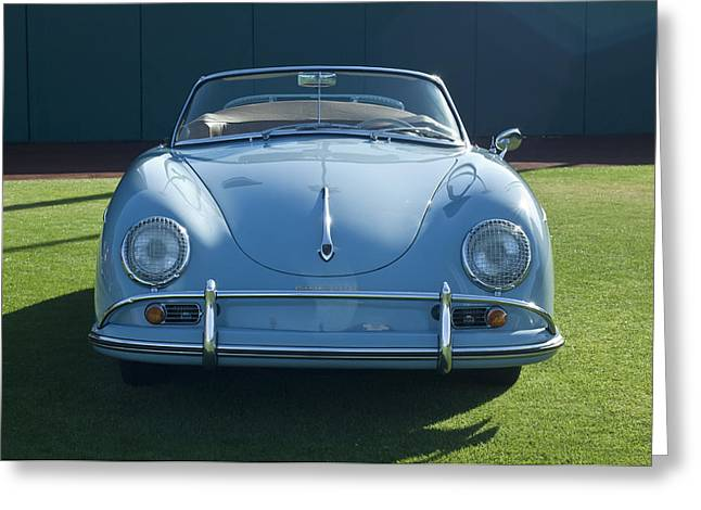 Famous Photographers Greeting Cards - Vintage Porsche Greeting Card by Jill Reger