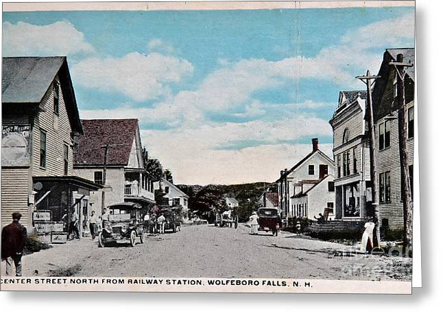Vintage Postcard Of Wolfeboro New Hampshire Greeting Card by Valerie Garner