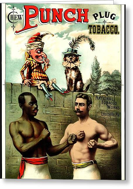 Chewing Tobacco Greeting Cards - Vintage Poster - Plug Tobacco Greeting Card by Benjamin Yeager