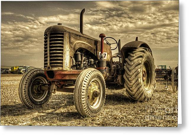 International Tractor Greeting Cards - Vintage Power Greeting Card by Rob Hawkins