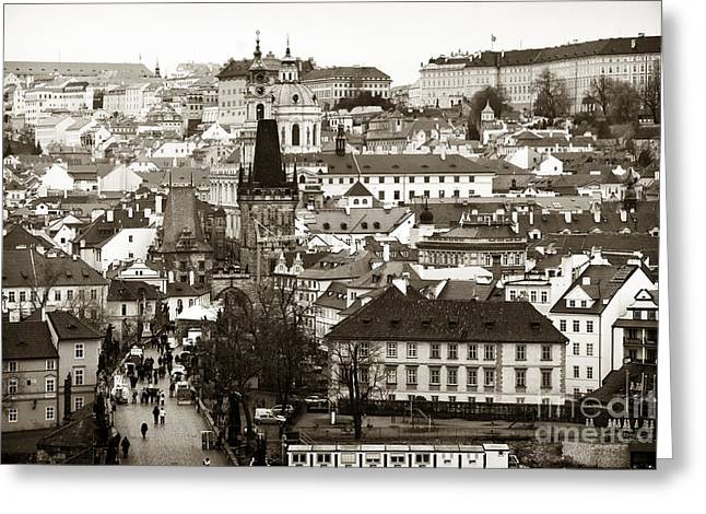 Photo Art Gallery Greeting Cards - Vintage Prague Greeting Card by John Rizzuto