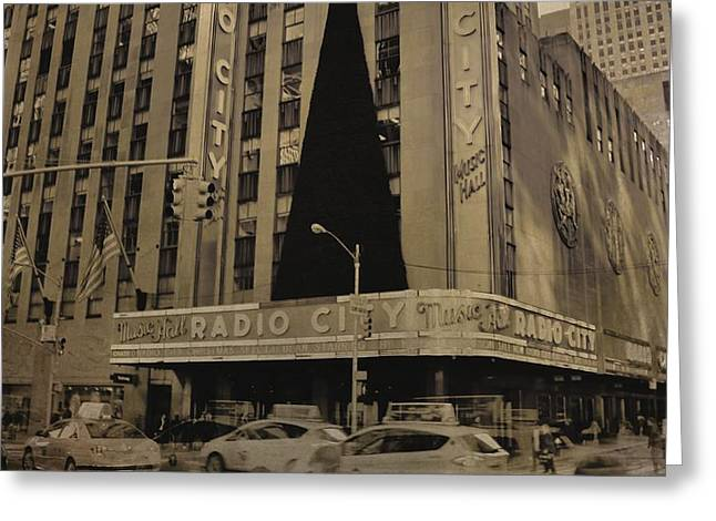 Vintage Radio City Music Hall Greeting Card by Dan Sproul
