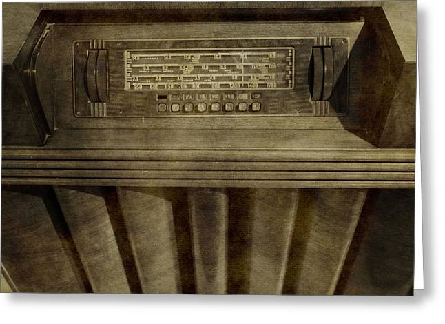 1950s Music Photographs Greeting Cards - Vintage Radio Greeting Card by Dan Sproul