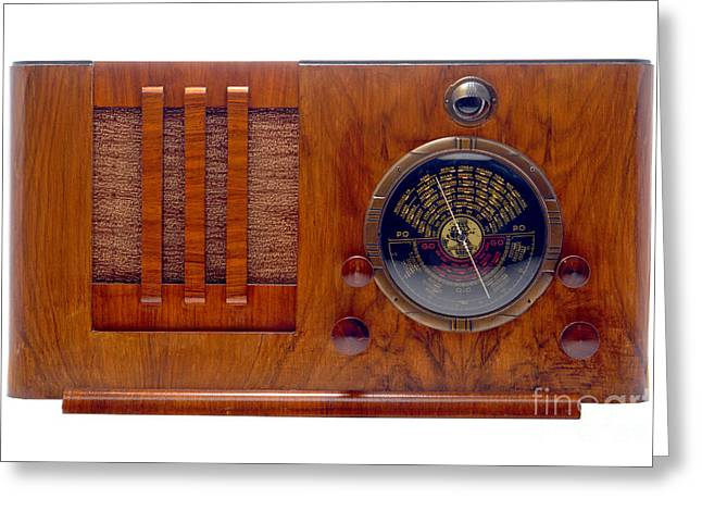 Vintage Appliance Greeting Cards - Vintage Radio Greeting Card by Olivier Le Queinec