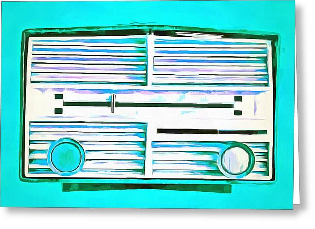 Pop Photographs Greeting Cards - Vintage Radio Pop Art Greeting Card by Edward Fielding