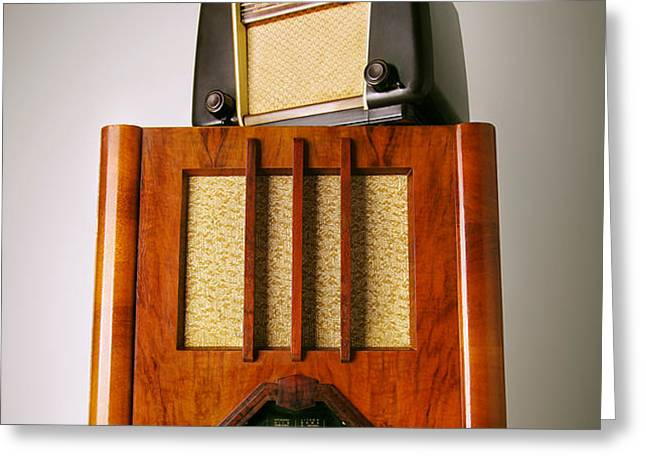 Vintage Radios Greeting Card by Carlos Caetano