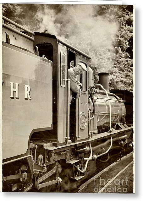 Vintage Railway Greeting Card by Jane Rix