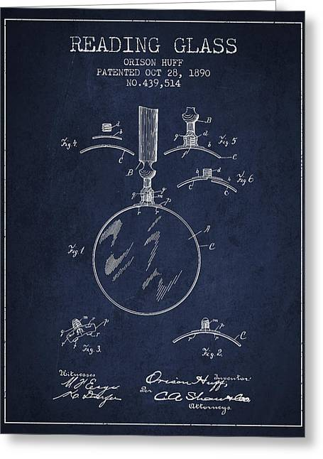 Eyeglasses Greeting Cards - Vintage Reading Glass Patent from 1890 Greeting Card by Aged Pixel