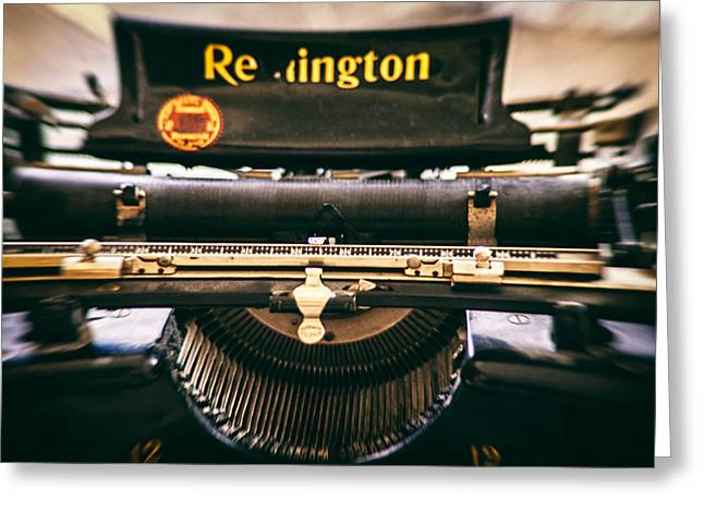 Typewriter Greeting Cards - Vintage Remington Greeting Card by Nomad Art And  Design