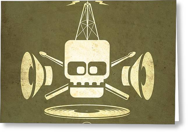Broadcast Antenna Greeting Cards - Vintage Rock Transmission Greeting Card by Milton Thompson