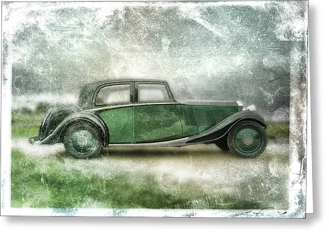 Runner Greeting Cards - Vintage Rolls Royce Greeting Card by David Ridley