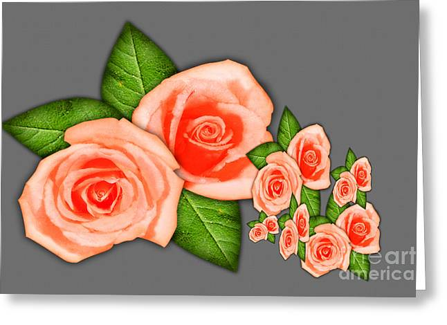 Installation Art Greeting Cards - Vintage Roses Greeting Card by Tina M Wenger