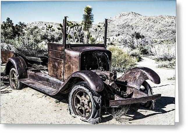 Rusted Cars Greeting Cards - Vintage Rust Greeting Card by Joseph S Giacalone